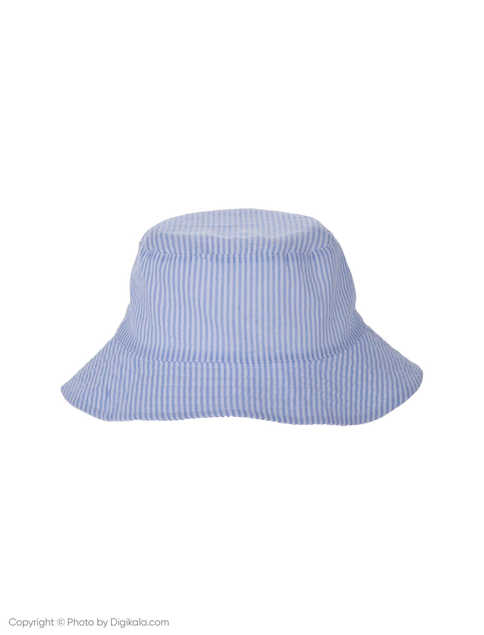 کلاه نخی ساحلی دخترانه - بلوکیدز - سفيد/آبي روشن - 2