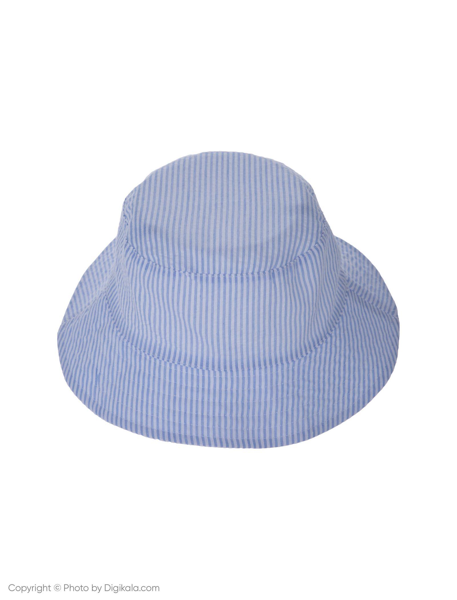 کلاه نخی ساحلی دخترانه - بلوکیدز - سفيد/آبي روشن - 3
