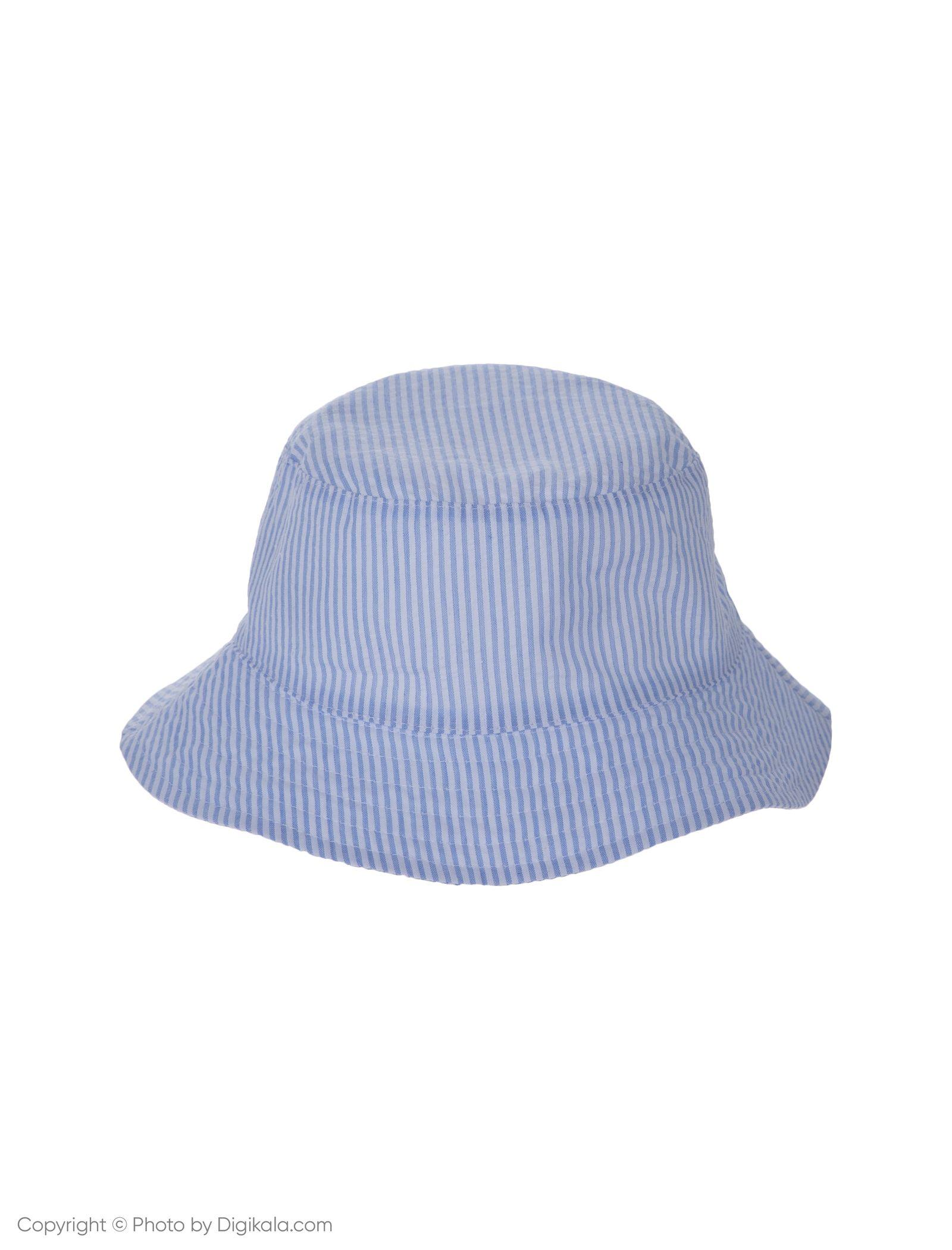کلاه نخی ساحلی دخترانه - بلوکیدز - سفيد/آبي روشن - 4