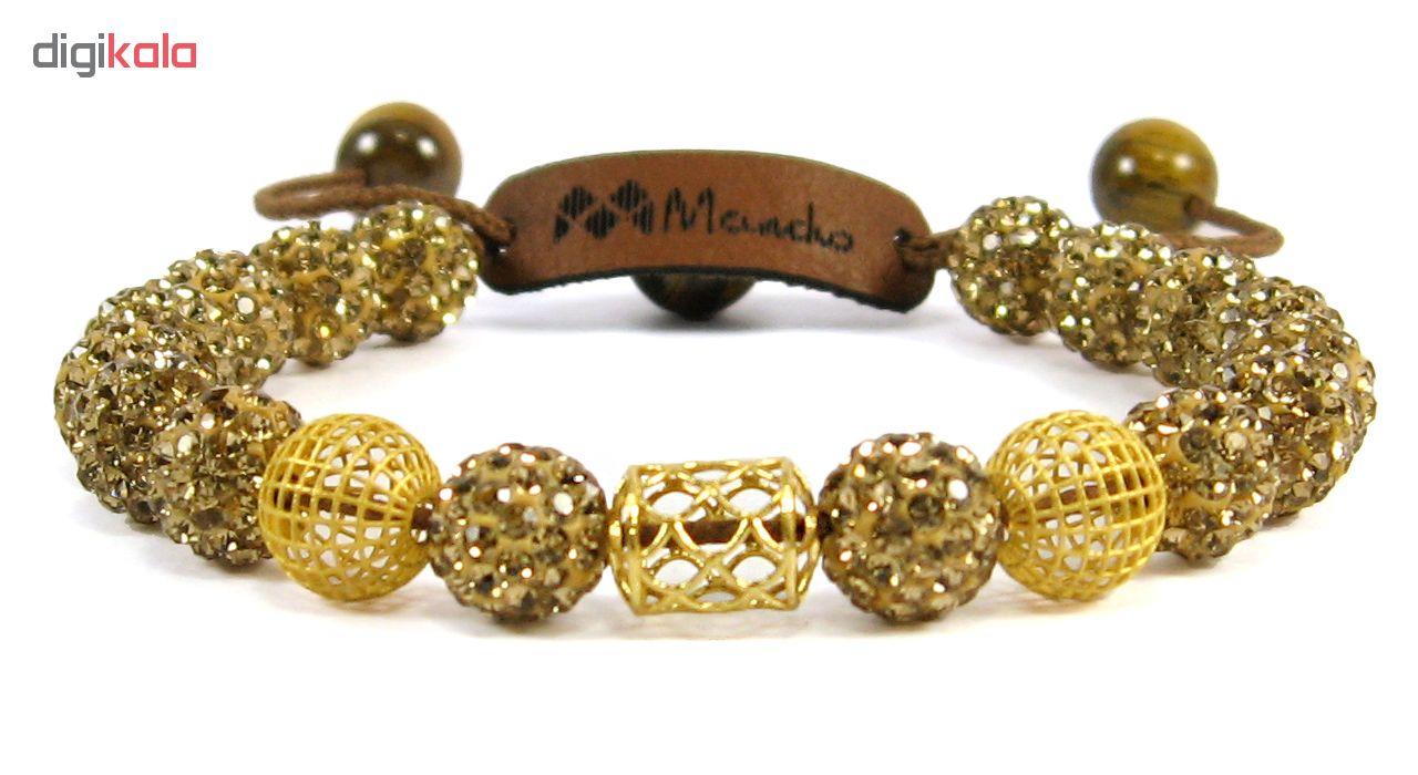 دستبند طلا 18عیار مانچو مدل bfg128