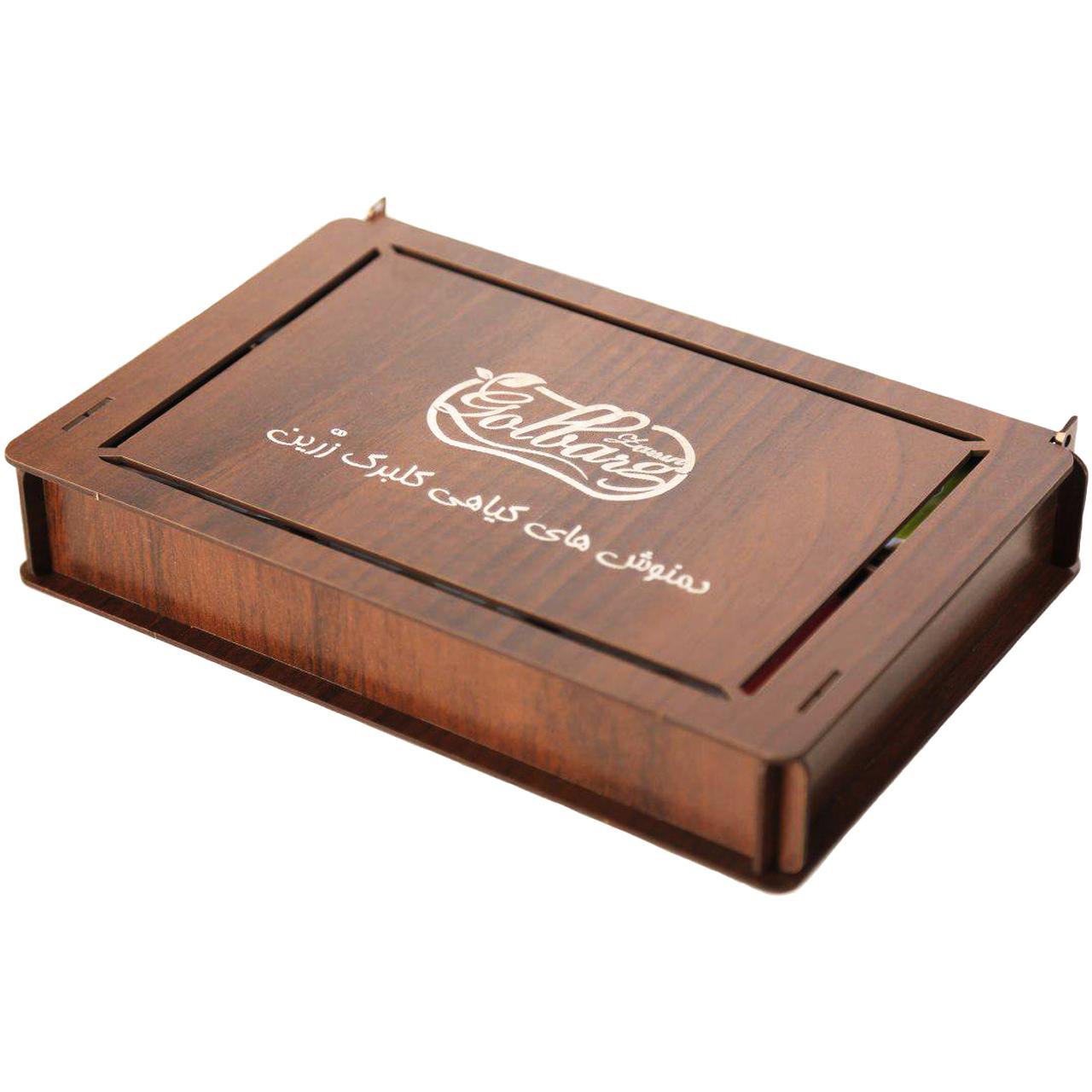 جعبه دمنوش و چای کیسه ای گلبرگ زرین مدل Classic بسته 36 عددی مناسب برای پذیرایی و هدیه