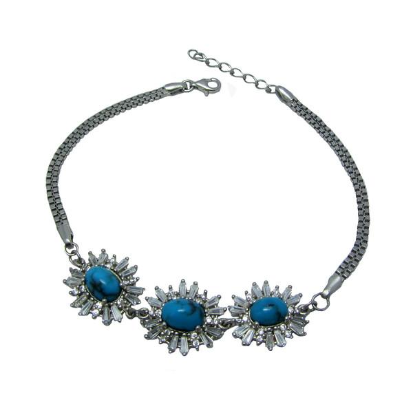 دستبند نقره زنانه کد OP174