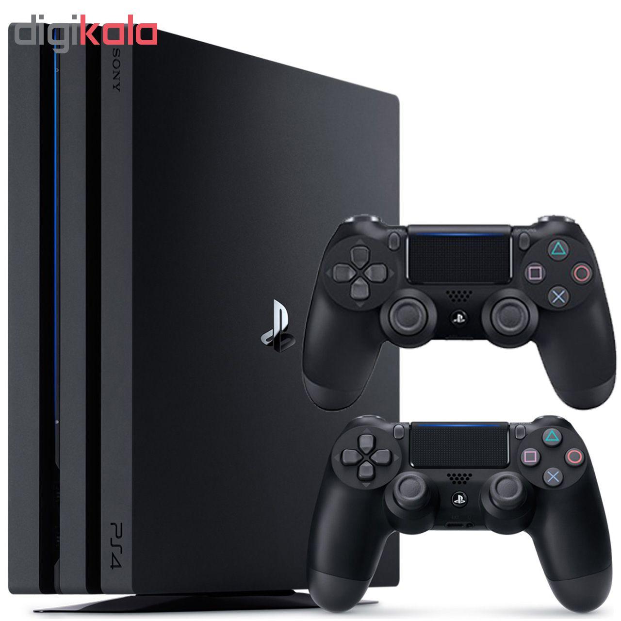 مجموعه کنسول بازی سونی مدل Playstation 4 Pro 2018 ریجن 2 کد CUH -7216B ظرفیت 1 ترابایت