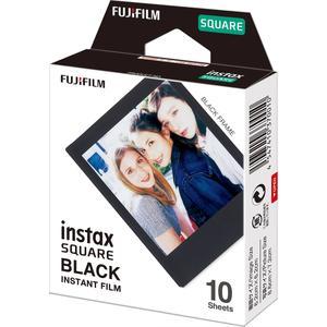 کاغذ عکس فوجی فیلم مدل Instax Square Black بسته 10عددی