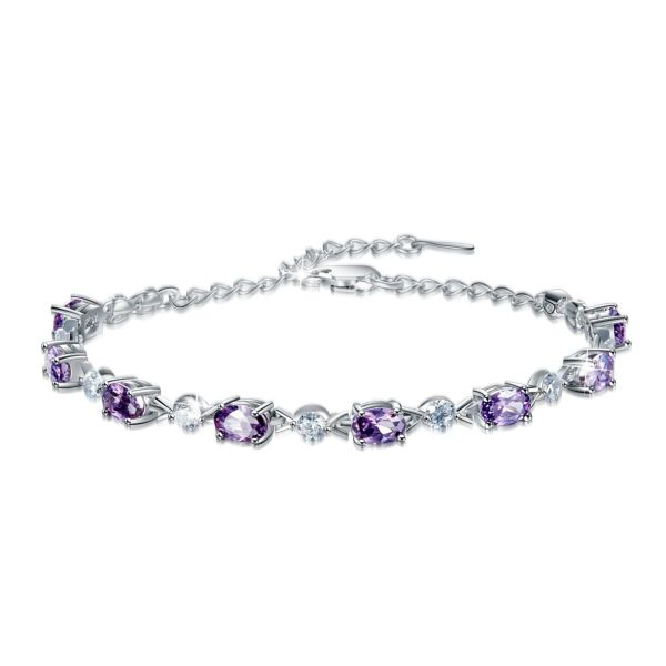 دستبند نقره زنانه کد YB0175