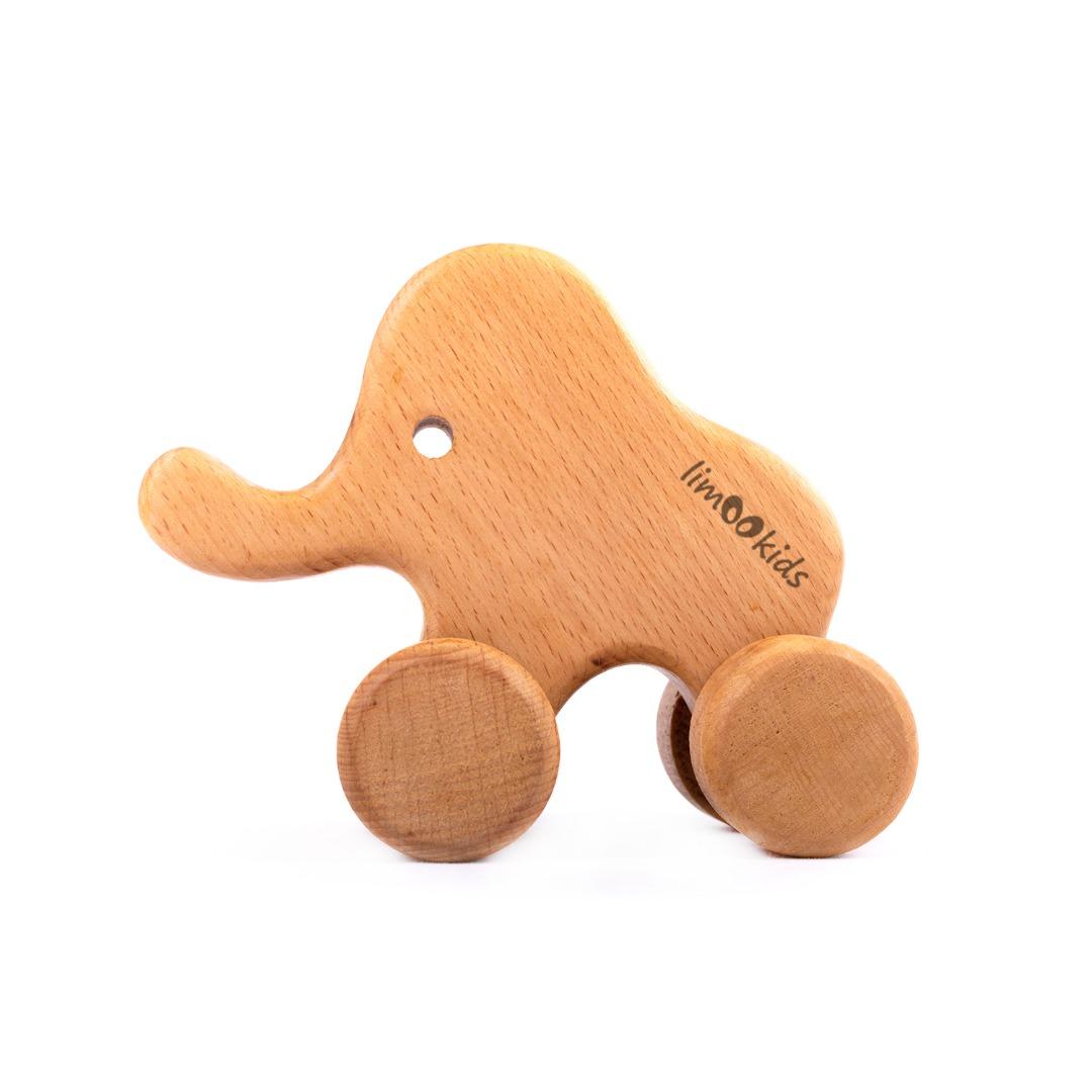 اسباب بازی چوبی لیموکیدز طرح فیل کد 102