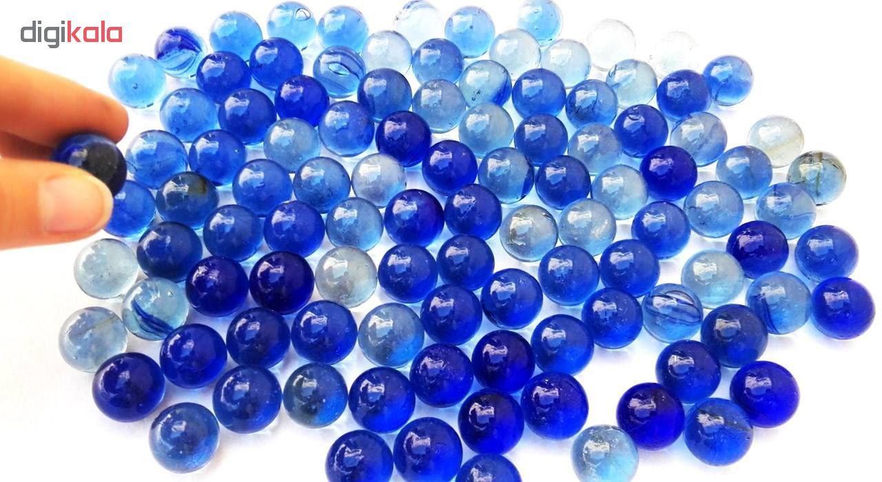 تیله شیشه ای گلدونه مدل آبی بسته 100 عددی main 1 3