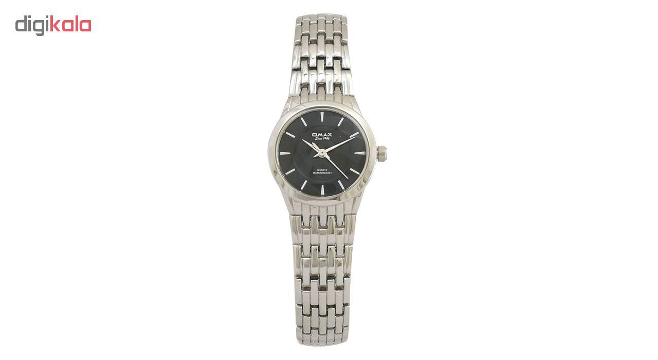 ساعت مچی عقربه ای  زنانه اوماکس مدل hbc184 bj867 به همراه دستمال مخصوص برند کلین واچ
