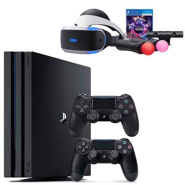 مجموعه کنسول بازی سونی مدل Playstation 4 Pro 2018 ریجن 2 کد CUH - 7216B ظرفیت 1 ترابایت