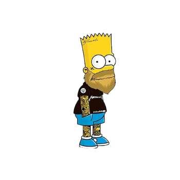 استیکر لپ تاپ طرح سیمپسون کد 6