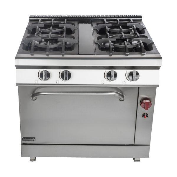 اجاق گاز صنعتی 4 شعله فردار مطبخ آرا مدل 206