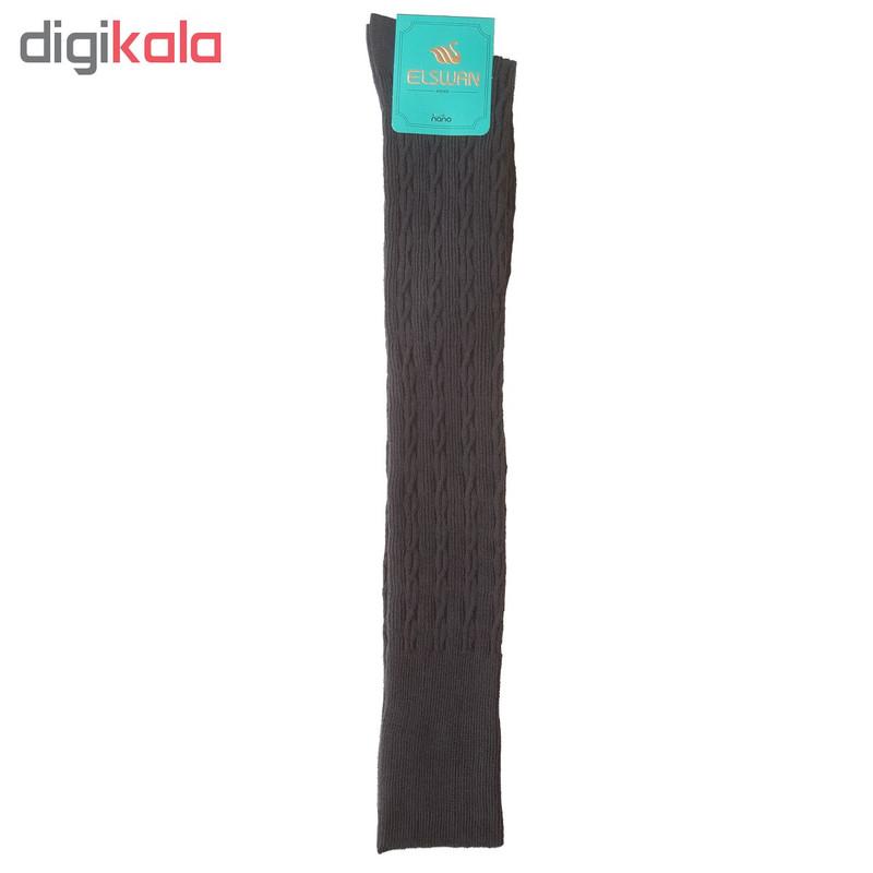 جوراب بلند زنانه ال سون طرح بافت کد PH73