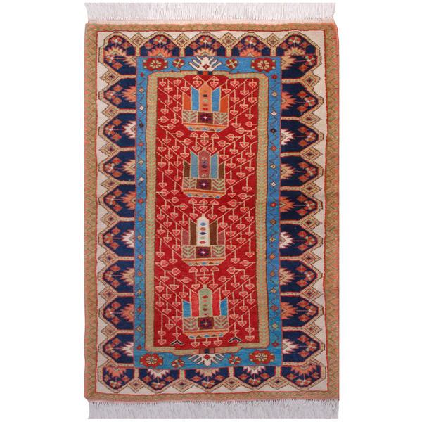 فرش دستبافت یک و نیم متری فرش هريس کد 101146