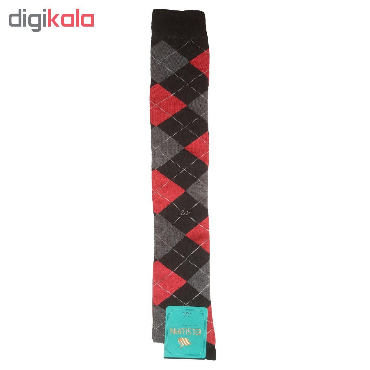جوراب بلند زنانه ال سون طرح اسکاج کد PH80