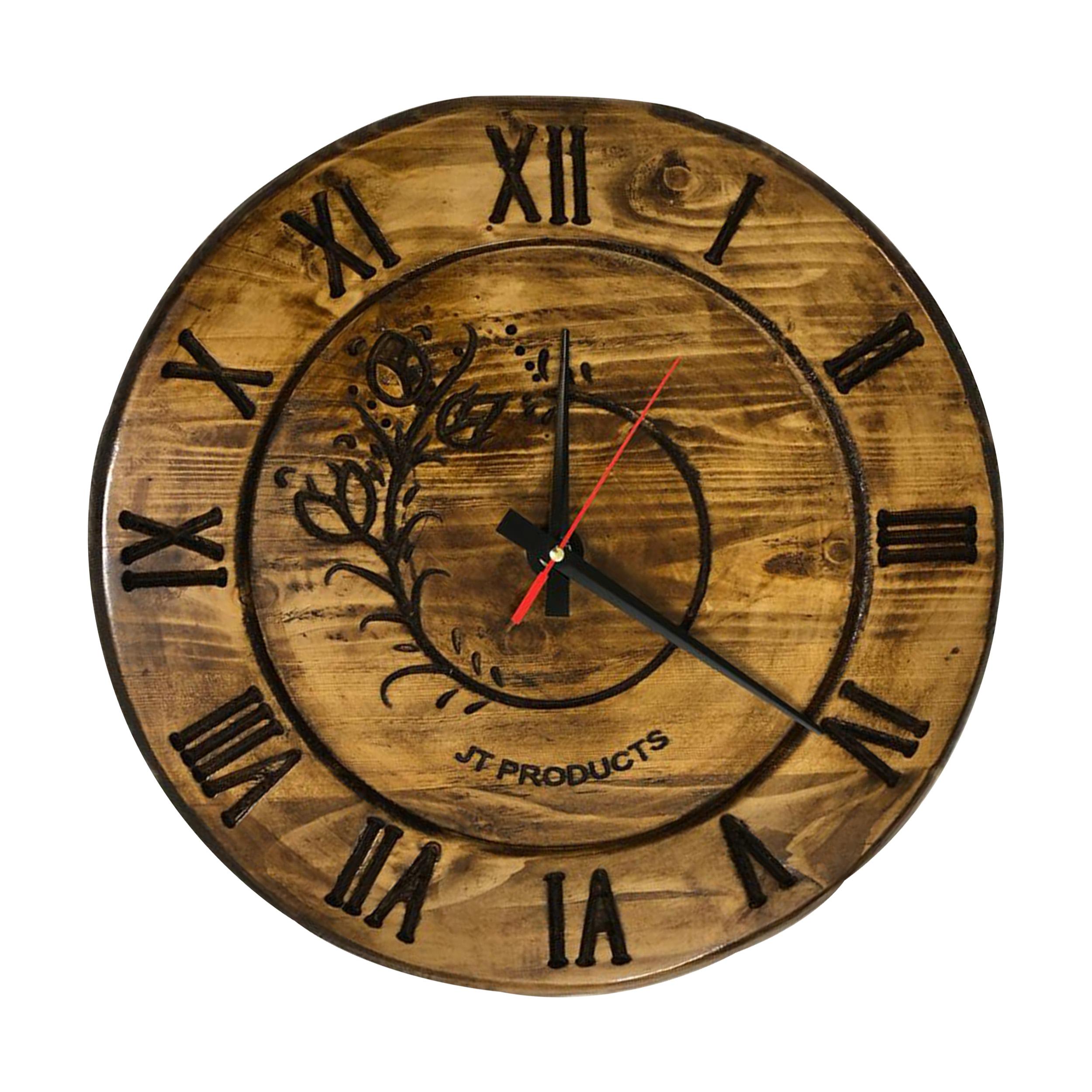 ساعت دیواری چوب روس کد 550