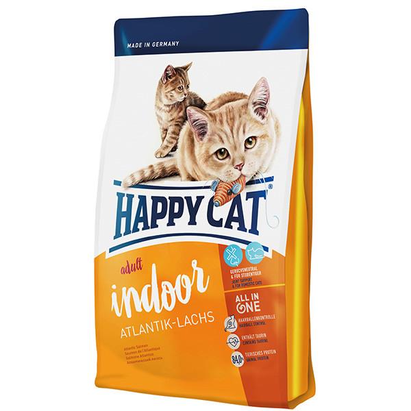 غذای خشک گربه بالغ هپی کت مدل IndSlmn01 وزن 1.4 کیلوگرم