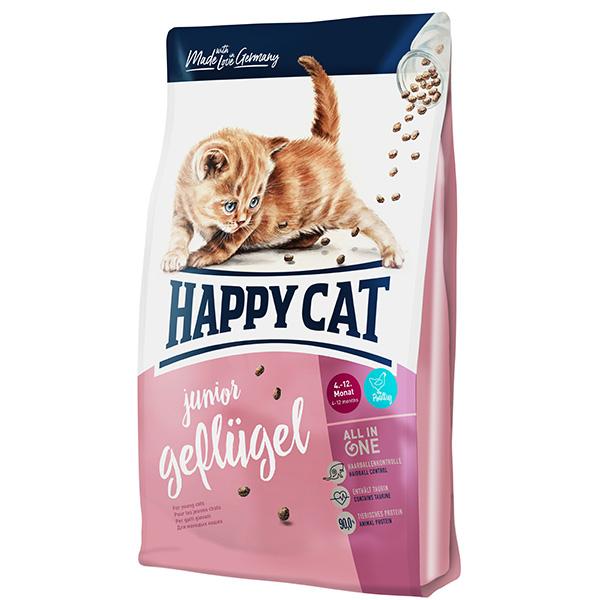 غذای خشک گربه هپی کت مدل JuniorGef03 وزن 1.4 کیلوگرم