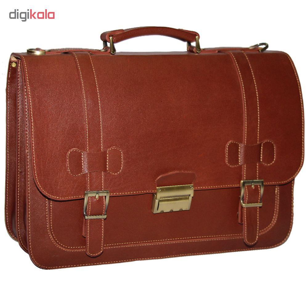 خرید                                     کیف اداری چرم طبیعی آدین چرم  مدل DL5