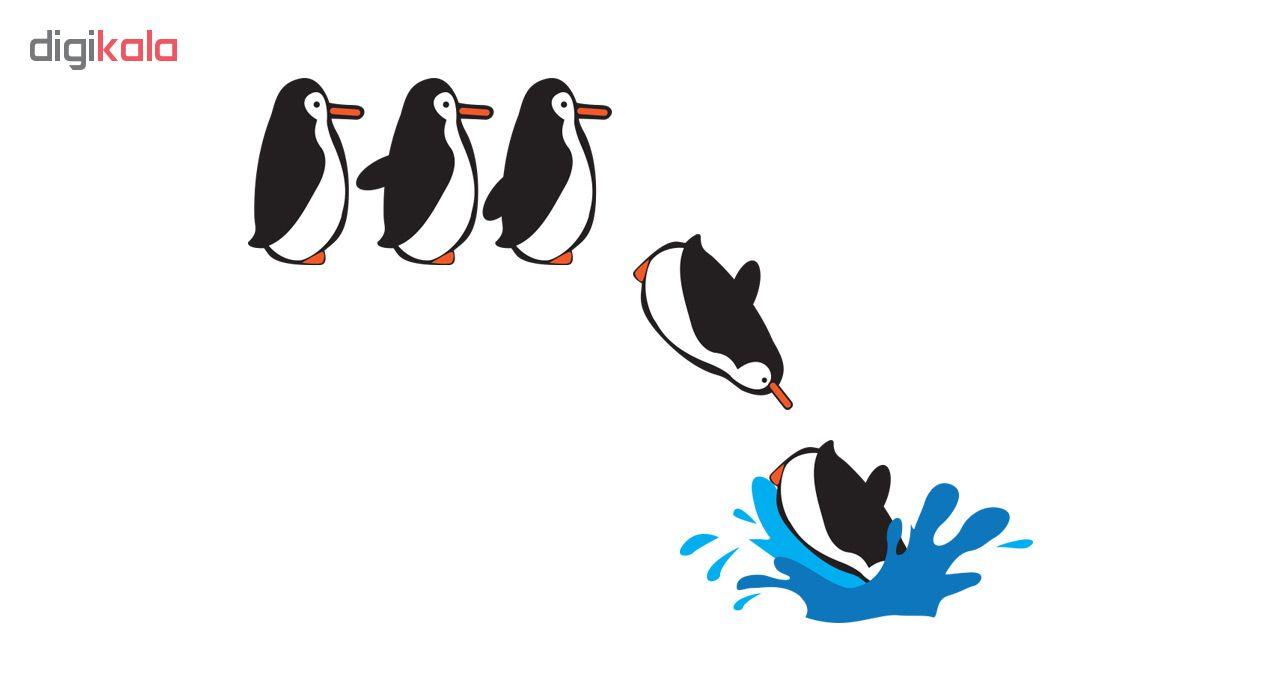 استیکر کلید پریز طرح پنگوئن ها کد ۰۲
