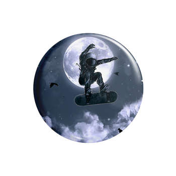 پیکسل ماسا دیزاین طرج فضانورد اسکیت برد ماه استیکر کد AS571