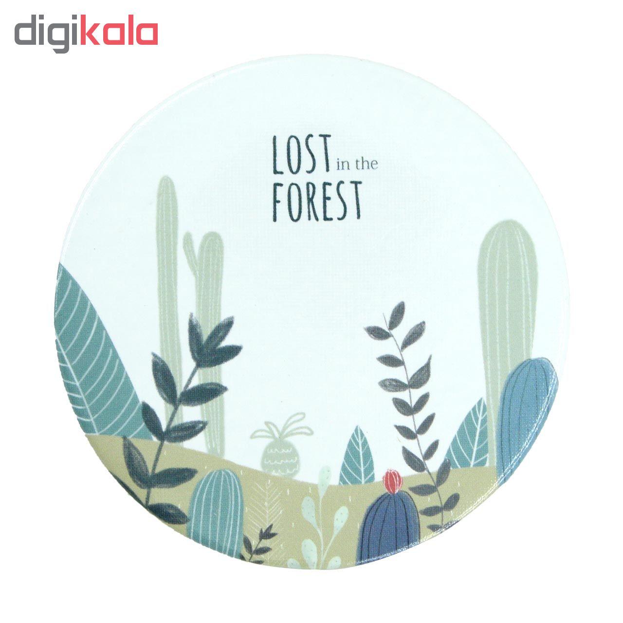 آینه جیبی طرح جنگل کد 1