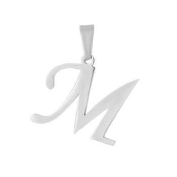 آویز گردنبند طلا 18 عیار جواهری میکا طرح M کد 0110039