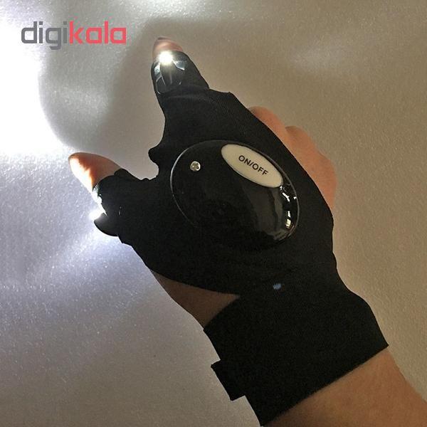 دستكش چراغ دار مدل LED 01
