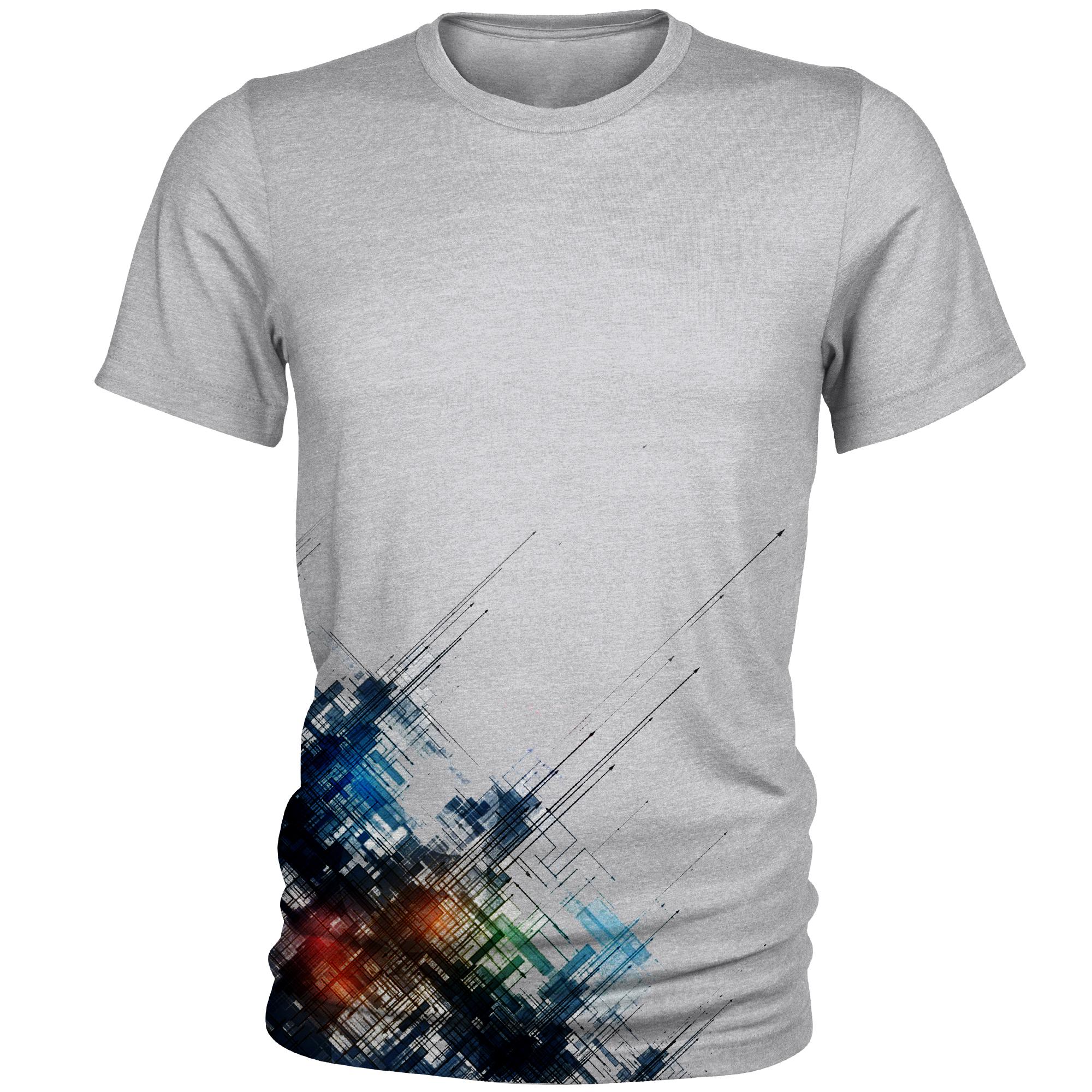 تی شرت مردانه طرح انتزاعی کد A055