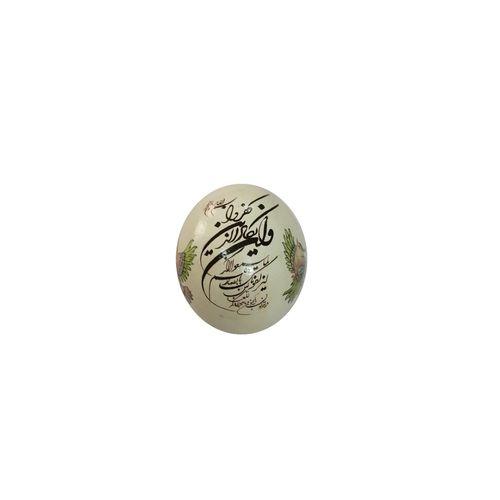 تخم شترمرغ تزئینی طرح مرغان ثنا گو