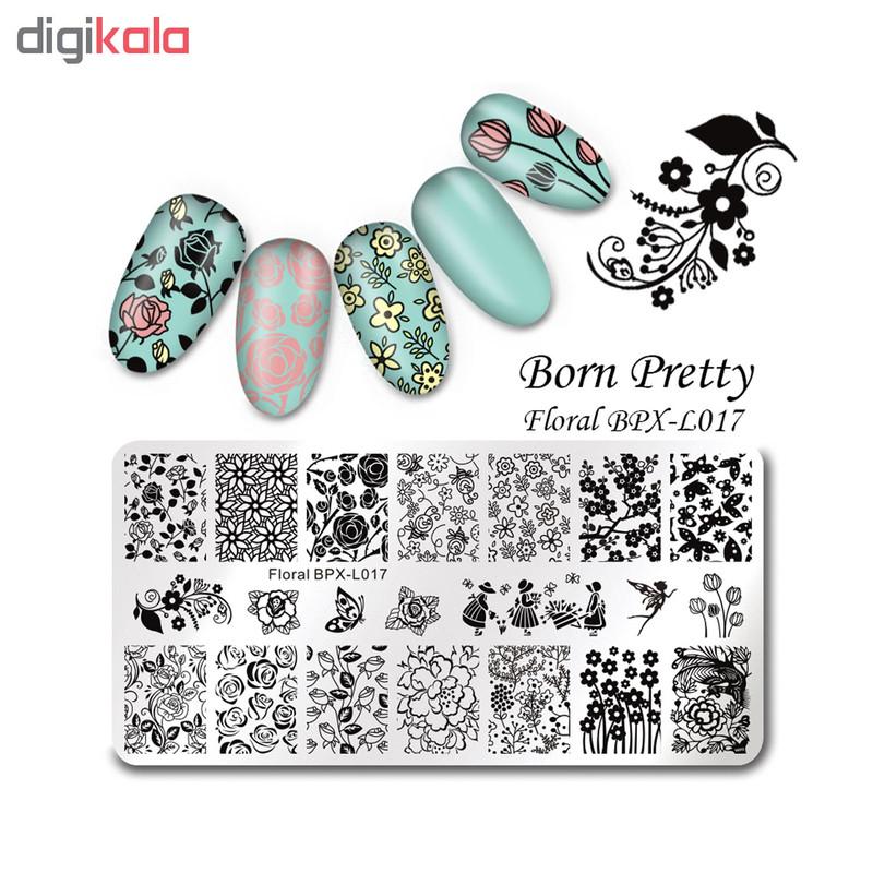 شابلون طراحی ناخن برن پرتی مدل Floral BPX L017