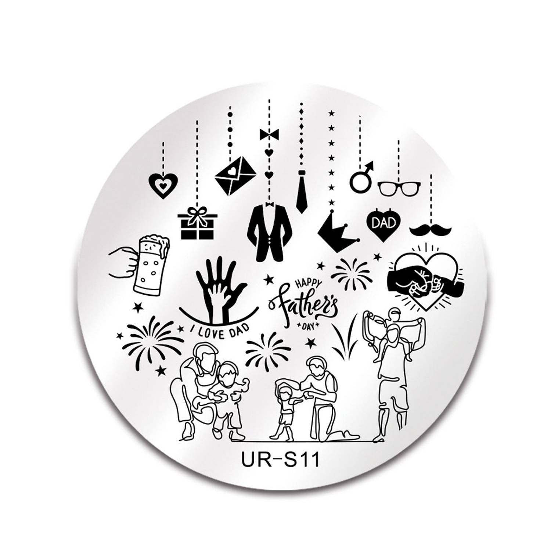 شابلون طراحی ناخن مدل UR S11