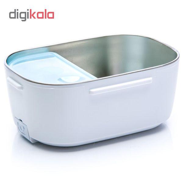 ظرف غذا برقی استیل لانچ باکس مدل HL-L300 رنگ صورتی