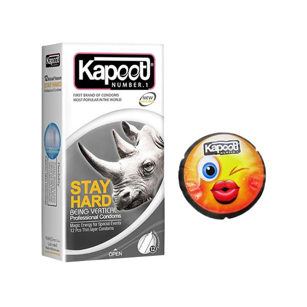کاندوم کاپوت مدل STAY HARD به همراه کاندوم کاپوت مدل اموجی کد 01