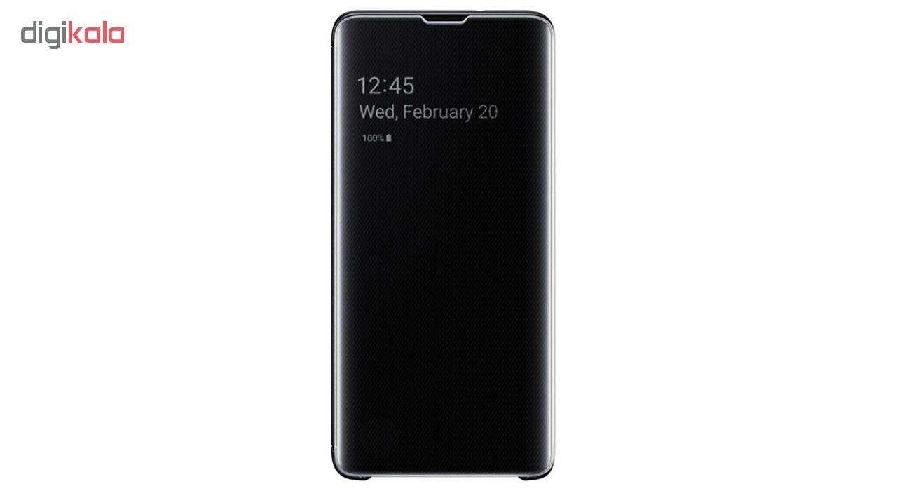 کیف کلاسوری سامسونگ مدل Clear View Standing مناسب برای گوشی موبایل سامسونگ Galaxy S10 Plus