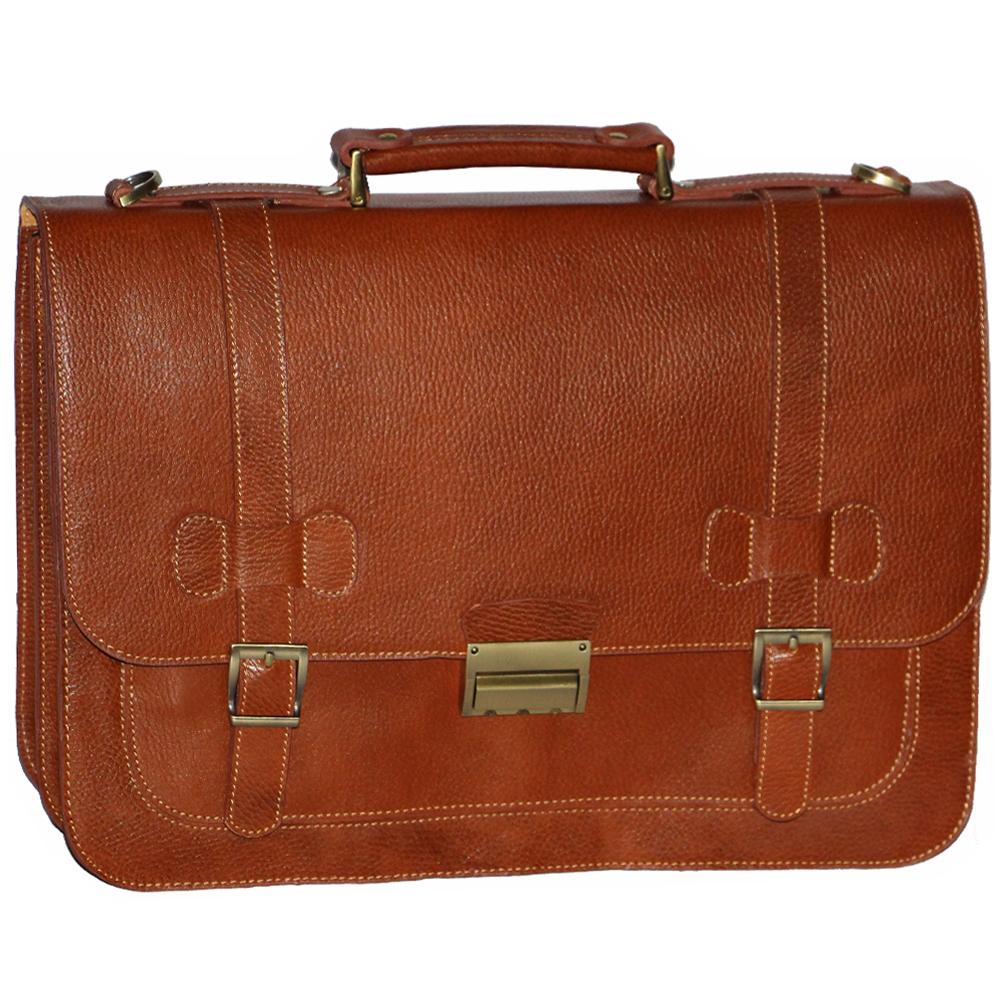 قیمت کیف اداری چرم طبیعی فلوتر آدین چرم مدل DL5