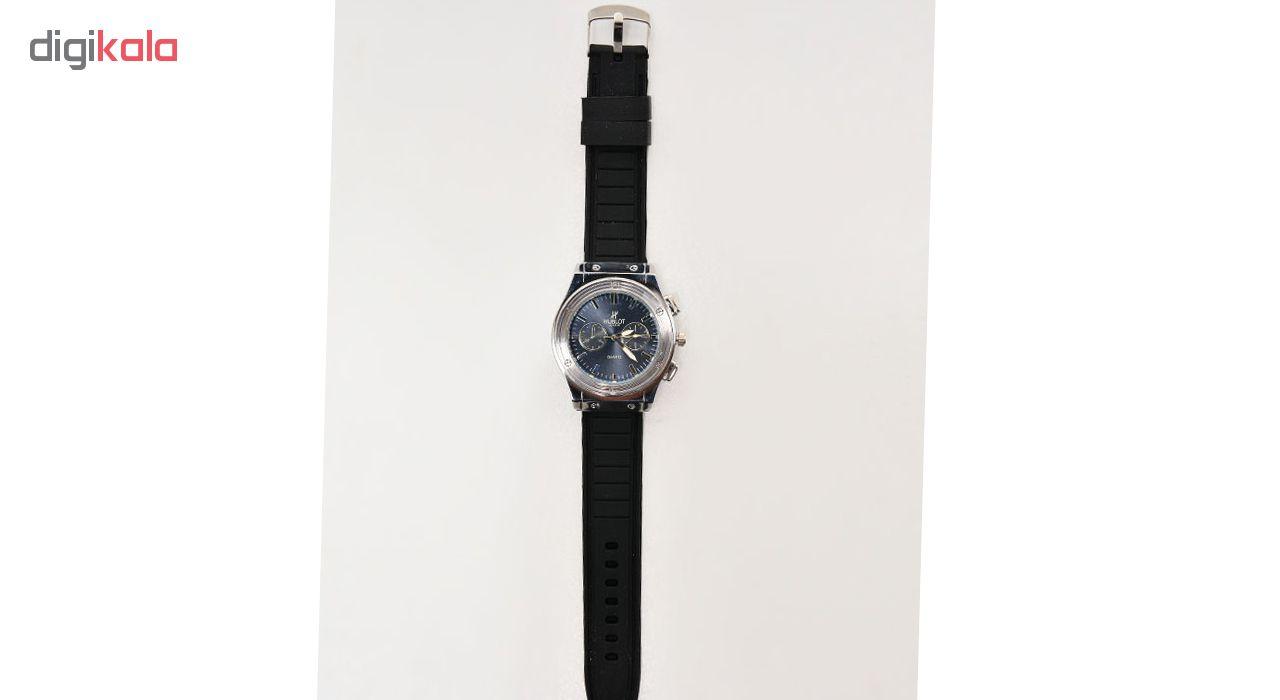 ساعت مچی عقربه ای مردانه مدل H-Geneve-Bk