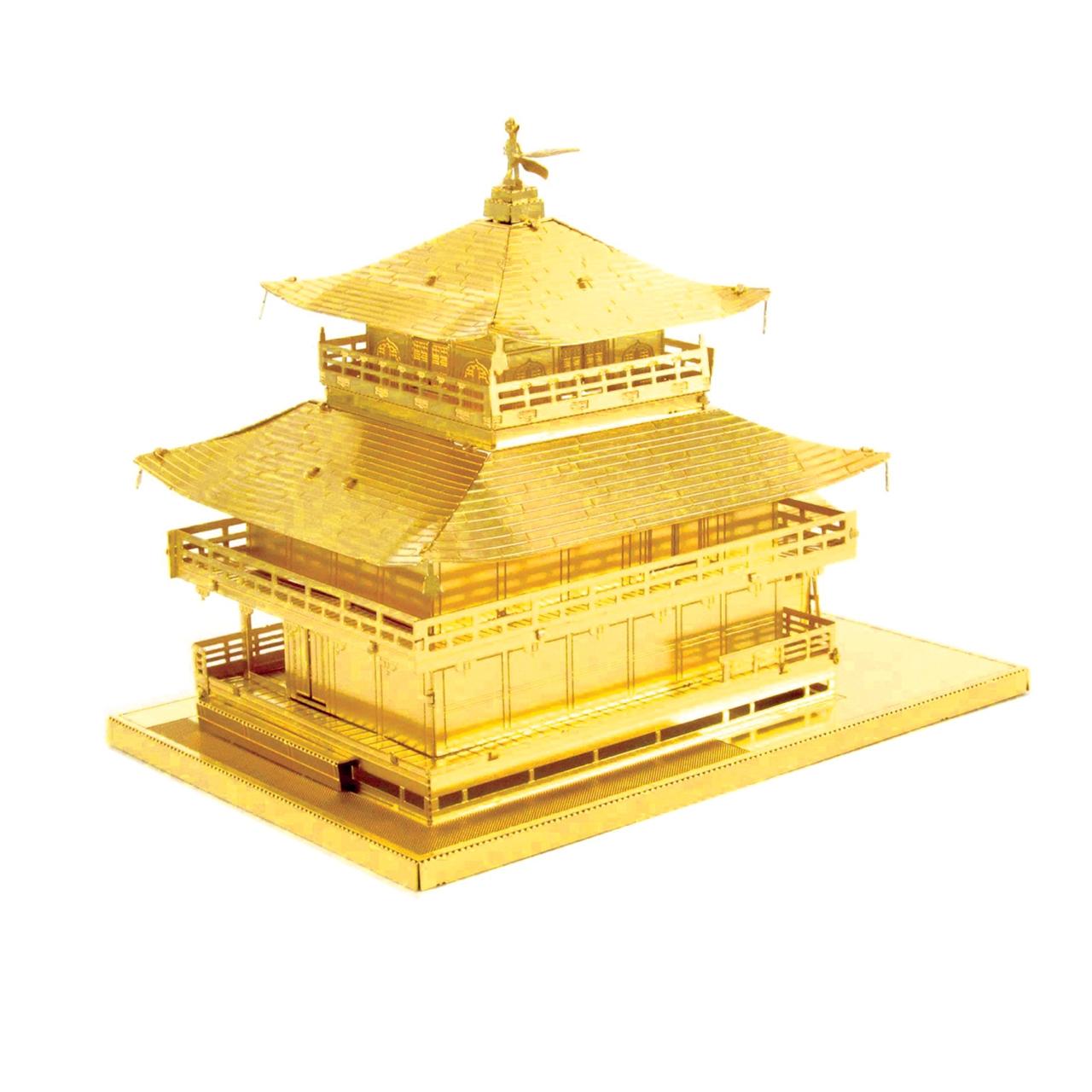 پازل فلزی 3 بعدی - مدل BMK kinkakuji gold