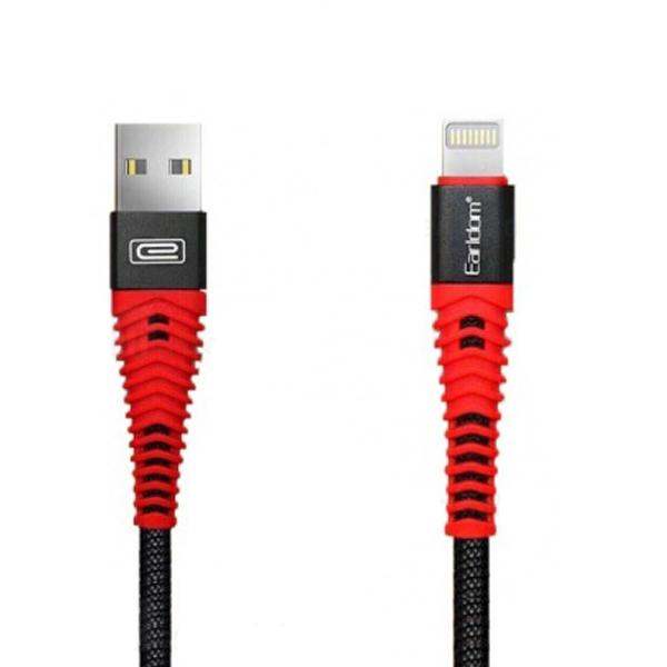 بررسی و {خرید با تخفیف} کابل تبدیل USB به لایتنینگ ارلدام مدل EC-060i طول 1 متر اصل