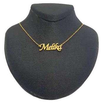 گردنبند نقره زنانه طرح اسم ملیکا کد 01
