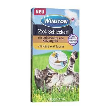 بستنی گربه وینستون مدل Leberwurst And Kase بسته 8 عددی