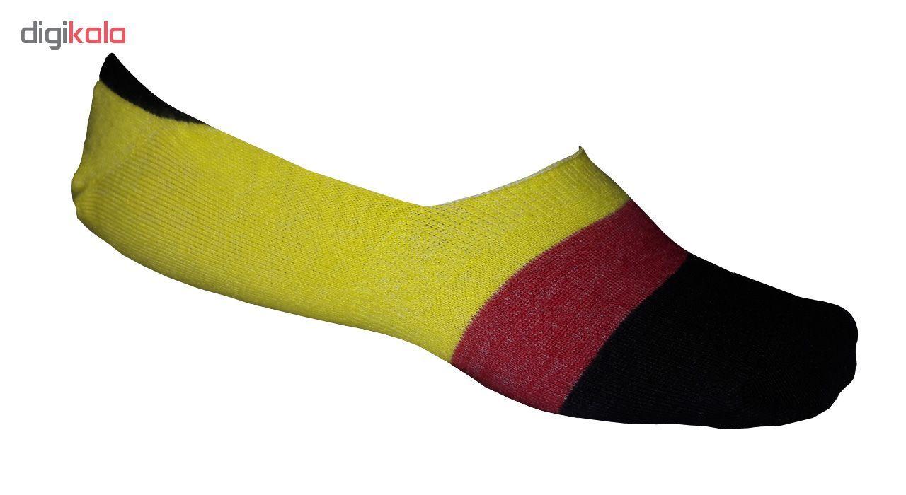 جوراب زنانه  زند طرح پرچم کد Y 77 مجموعه 4 عددی  main 1 1