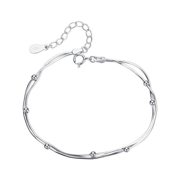 دستبند نقره زنانه کد GB0572