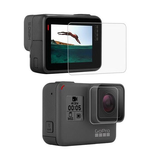 محافظ صفحه نمایش و لنز دوربین  شیشه ای گلس  مناسب برای دوربین ورزشی گوپرو  hero 5 6 7