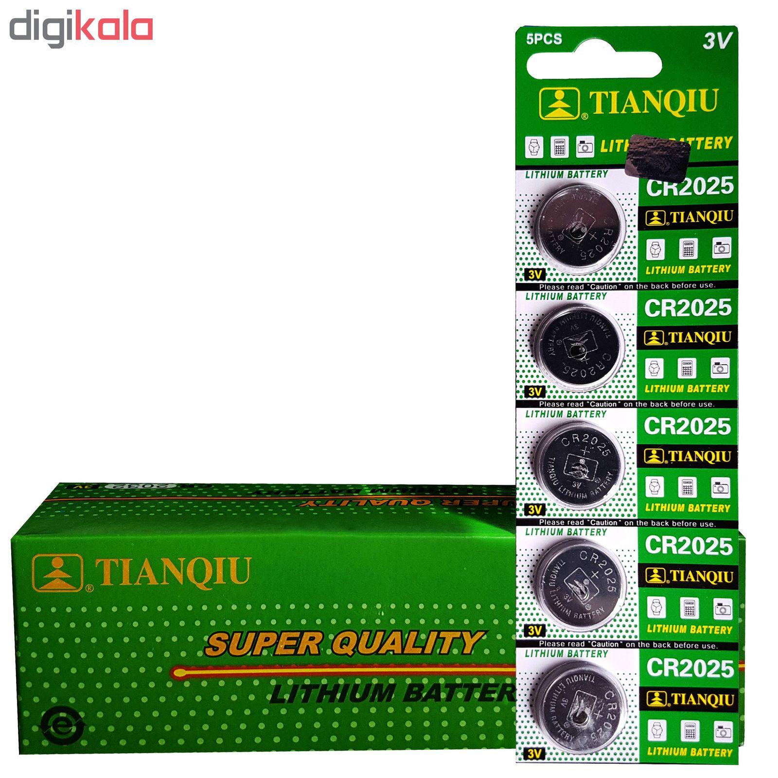 باتری سکه ای تیانکیو مدل CR2025 بسته 100 عددی main 1 1