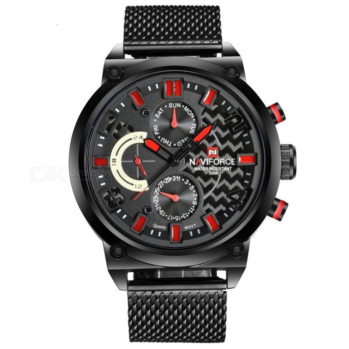 کد تخفیف                                      ساعت مچی عقربه ای مردانه نیوی فورس مدل NF9068M /MGHZ به همراه دستمال مخصوص نانو برند کلیر واچ