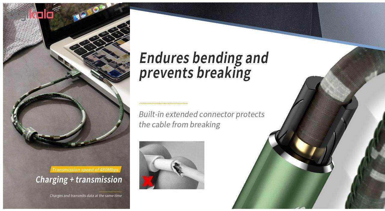 کابل تبدیل USB به لایتنینگ باسئوس مدل BC12 طرح Camoufage طول 2 متر main 1 6