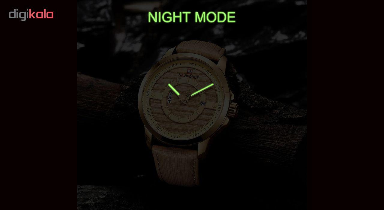 کد تخفیف                                      ساعت مچی عقربه ای مردانه نیوی فورس مدل NF9151M -GH-TA