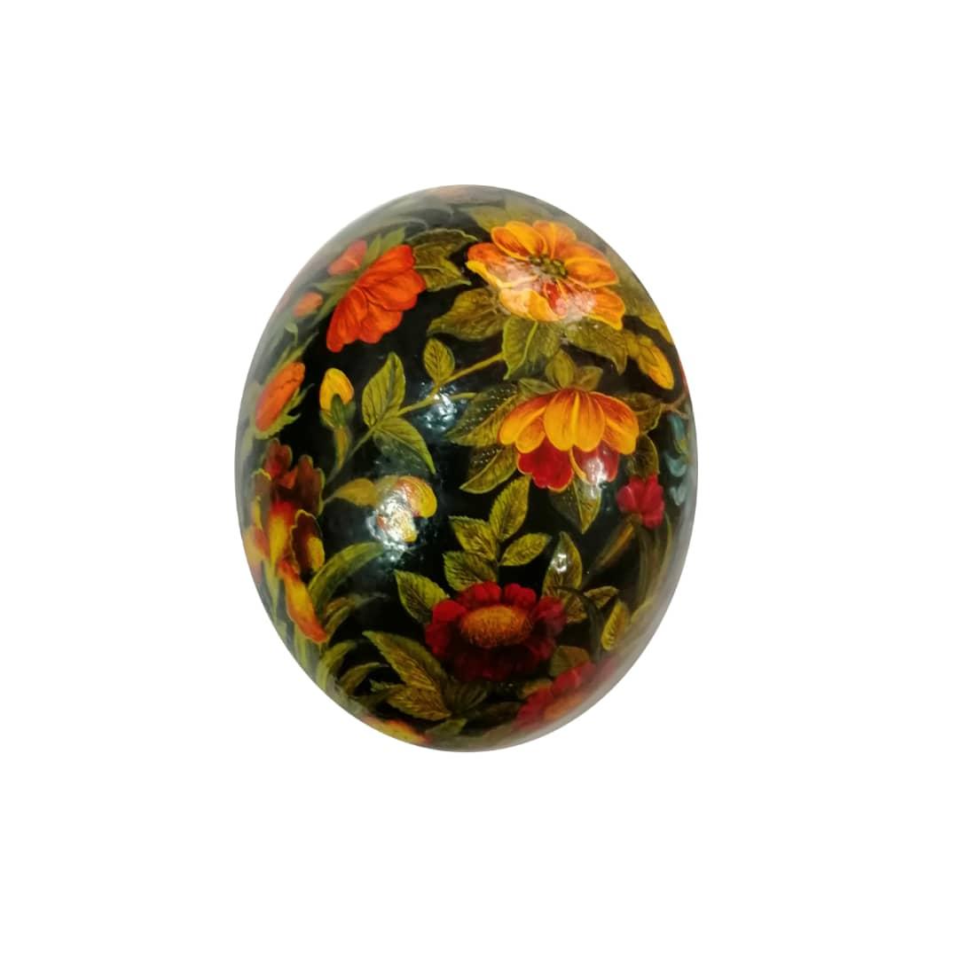 تخم شترمرغ تزئینی طرح گلستان