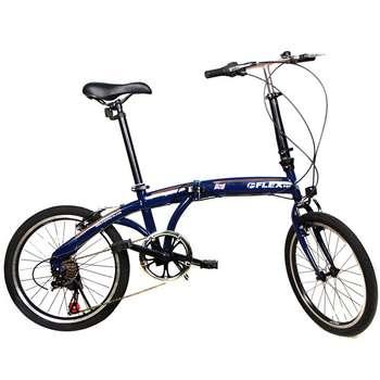 دوچرخه تاشو free size فلکس پرو مدل سرمه ایregalia