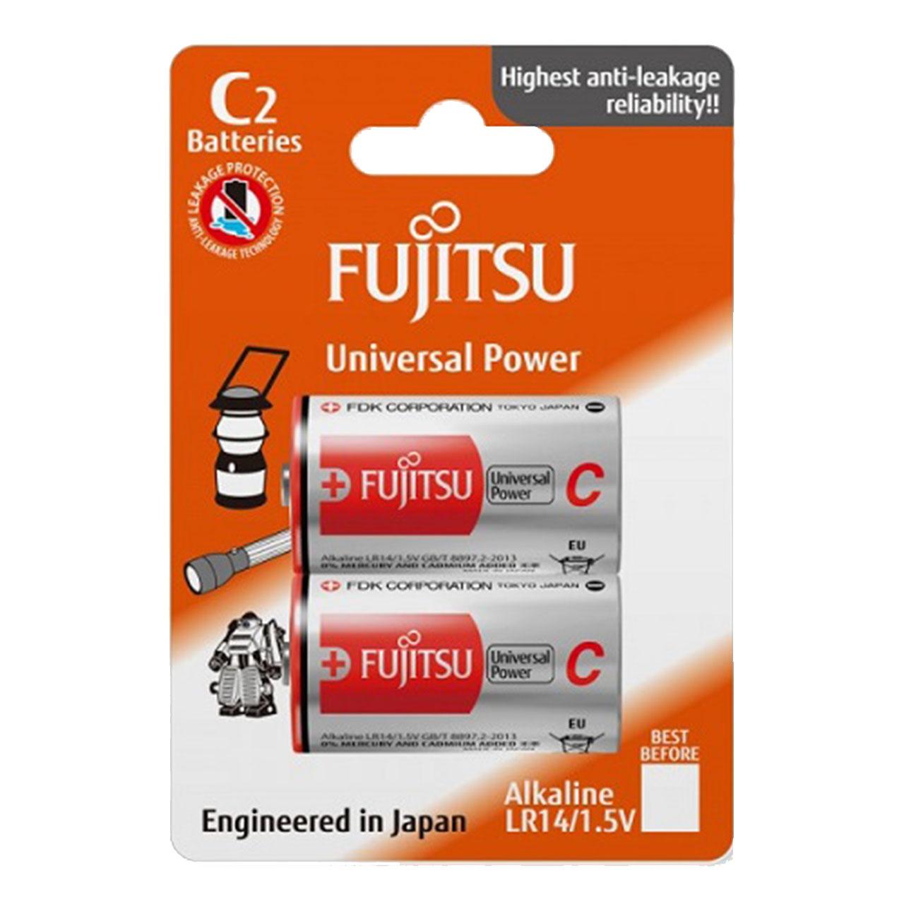 باتری C فوجیتسو مدل LR14  بسته 2 عددی